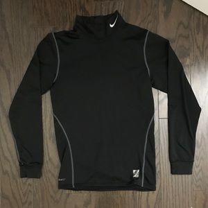 Nike pro thermal wear long sleeve black shirt